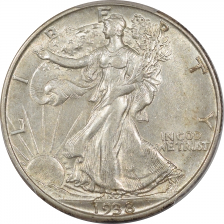New Certified Coins 1938-D WALKING LIBERTY HALF DOLLAR – PCGS AU-58 ORIGINAL, PQ & CAC APPROVED!