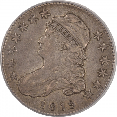 New Certified Coins 1819 CAPPED BUST HALF DOLLAR – PCGS XF-40, ORIGINAL & PRETTY
