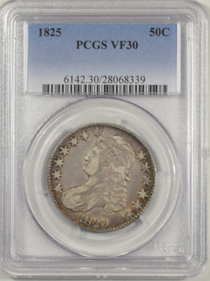 Coin World/Numismatic News Featured Coins 1825 CAPPED BUST HALF DOLLAR PCGS VF-30