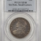 New Certified Coins 1834 CAPPED BUST HALF DOLLAR, LARGE DATE, SMALL LETTERS, PCGS VF-20