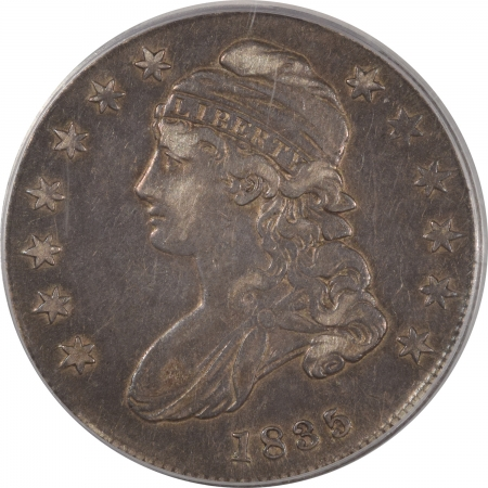 New Certified Coins 1835 CAPPED BUST HALF DOLLAR PCGS VF-35, PLEASING