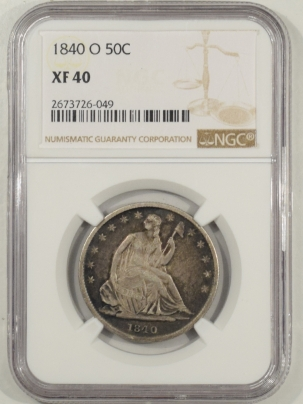 Coin World/Numismatic News Featured Coins 1840-O LIBERTY SEATED HALF DOLLAR NGC XF-40