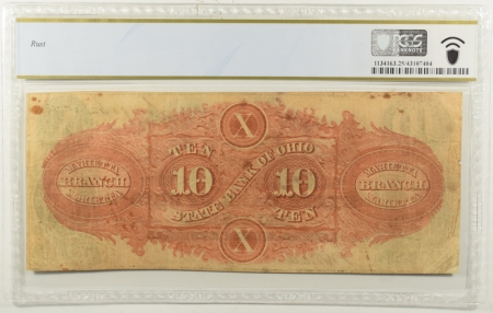 New Certified Coins 1850s-60s $10 STATE BANK OF OHIO MARIETTA BRANCH HAXBY#OH-5-G900 PCGS VF-25 RUST