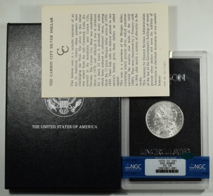 CAC Approved Coins 1878-CC MORGAN DOLLAR GSA WITH BOX AND CARD – NGC MS-60 CAC APPROVED!
