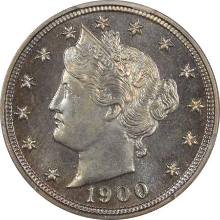 New Certified Coins 1900 PROOF LIBERTY NICKEL – PCGS PR-67, GORGEOUS & PREMIUM QUALITY CAC APPROVED!