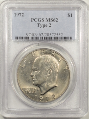 New Certified Coins 1972 EISENHOWER DOLLAR – TY II – PCGS MS-62