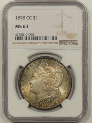 Dollars 1878-CC MORGAN DOLLAR NGC MS-63, ORIGINAL & PRETTY!