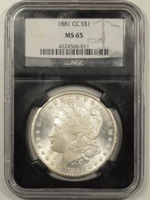 Morgan Dollars 1881-CC MORGAN DOLLAR – NGC MS-65 BLAST WHITE!