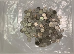 Dimes $25 FACE VALUE 90% US SILVER COINS ROOSEVELT/MERCURY DIMES, 250 COINS