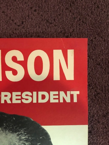Other Collectibles 1960 JOHNSON FOR VICE PRESIDENT LEADERSHIP FOR THE 60S 13.5″ x 20.5″ POSTER RARE