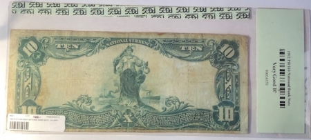 U.S. Currency 1902 $10 PB NATIONAL BANK NOTE – CH #5831 CNB WESTERNPORT MD: FR-633 PCGS VG-10